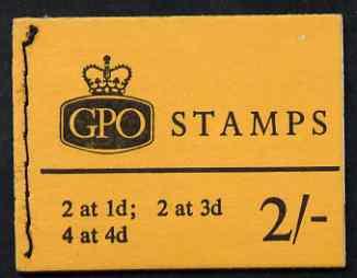 Booklet - Great Britain 1965-67 Wilding Crowns phosphor 2s booklet (July 1967) complete SG N29p