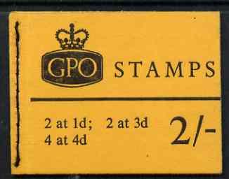 Booklet - Great Britain 1967-68 Wilding Crowns phosphor 2s booklet (Jan 1968) complete SG N31p
