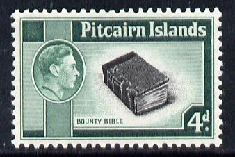 Pitcairn Islands 1940-51 KG6 Bounty Bible 4d unmounted mint SG5b