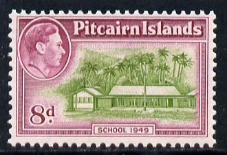 Pitcairn Islands 1940-51 KG6 School 8d unmounted mint SG6a