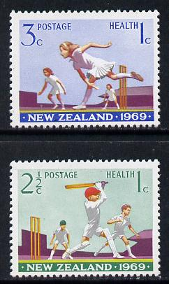New Zealand 1969 Health - Cricket set of 2 unmounted mint SG 899-900
