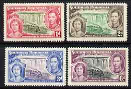 Southern Rhodesia 1937 KG6 Coronation perf set of 4 mounted mint, SG 36-39