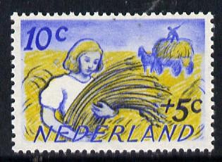 Netherlands 1949 Scouts Cultural Fund 10c + 5c (Gathering Wheat) SG 682