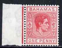 Bahamas 1938-52 KG6 1d carmine unmounted mint, SG 150