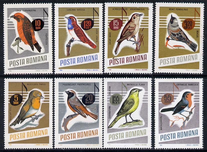 Rumania 1966 Songbirds set of 8 unmounted mint, SG 3369-76, Mi 2500-2507*