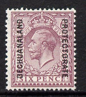 Bechuanaland 1925-27 KG5 overprint on Great Britain 6d unmounted mint, SG 97*