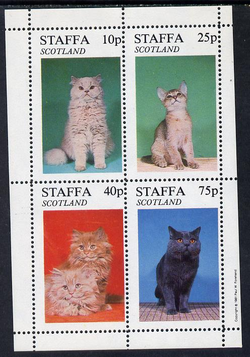 Staffa 1981 Cats perf  set of 4 values (10p to 75p) unmounted mint