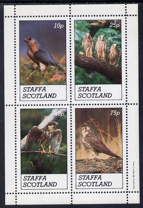 Staffa 1981 Birds of Prey #02 perf  set of 4 values (10p to 75p) unmounted mint