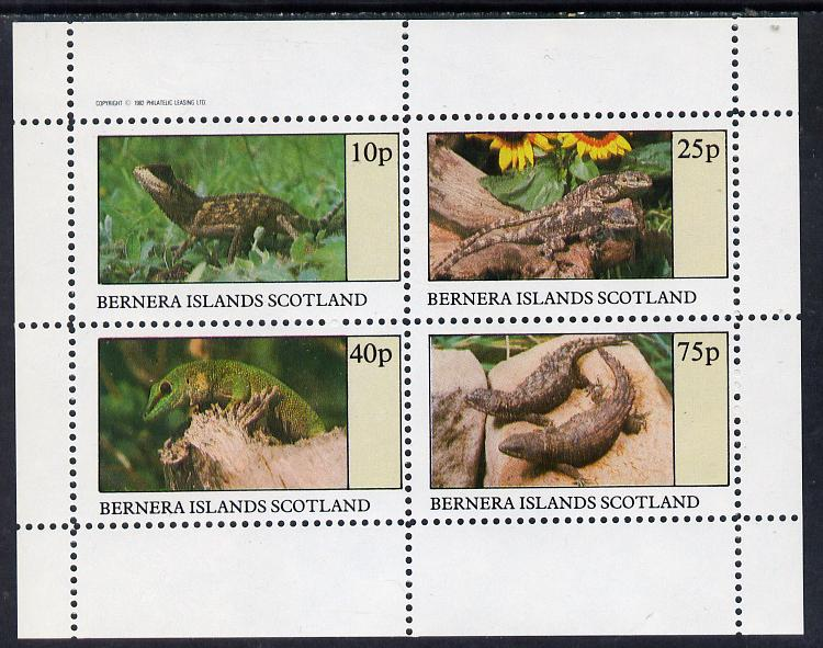 Bernera 1982 Lizards perf set of 4 values (10p to 75p) unmounted mint