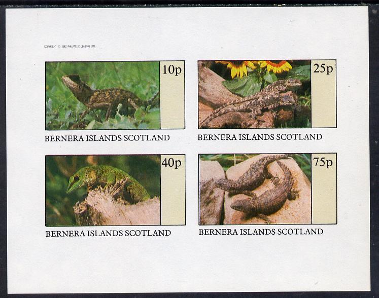 Bernera 1982 Lizards imperf set of 4 values (10p to 75p) unmounted mint