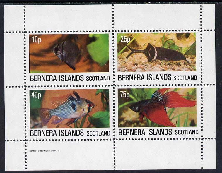 Bernera 1982 Tropical Fish perf  set of 4 values (10p to 75p) unmounted mint