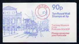 Booklet - Great Britain 1979 Derby Mechanised Letter Office 90p booklet complete (Tramway Museum, Crich) with Cyl No. 25 no dot, SG FG7