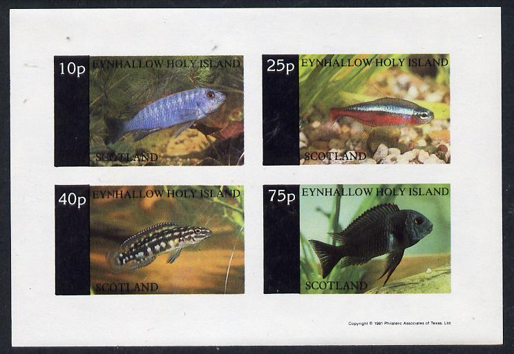 Eynhallow 1981 Tropical Fish imperf  set of 4 values (10p to 75p) unmounted mint