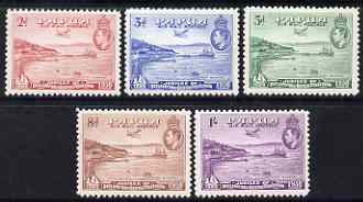 Papua 1938 KG6 50th Anniversary set of 5 fine mounted mint, SG 158-62