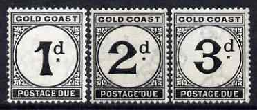 Gold Coast 1923 postage due set of 3 values (1d, 2d & 3d) superb unmounted mint SG D2-4