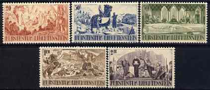 Liechtenstein 1942 600th Anniversary of Separation set of 5 lightly mounted mint SG 205-209