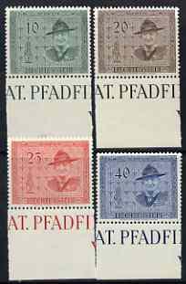 Liechtenstein 1953 14th Scout Conference set of 4 unmounted mint SG 313-316