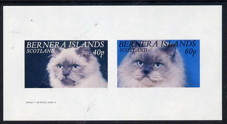Bernera 1982 Cats imperf  set of 2 values (40p & 60p) unmounted mint, stamps on animals   cats