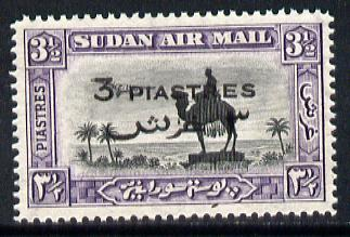 Sudan 1938 Statue of General Gordon 3p on 3.5m unmounted mint SG 75*, stamps on statues   personalities   camels , stamps on  kg6 , stamps on
