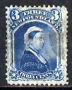 Newfoundland 1868-73 QV 3c blue fine used with light cancel, SG 37