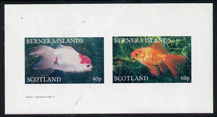 Bernera 1982 Ornamental Fish imperf  set of 2 values (40p & 60p) unmounted mint