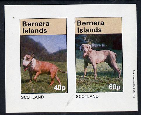 Bernera 1981 Dogs imperf  set of 2 values (40p & 60p) unmounted mint