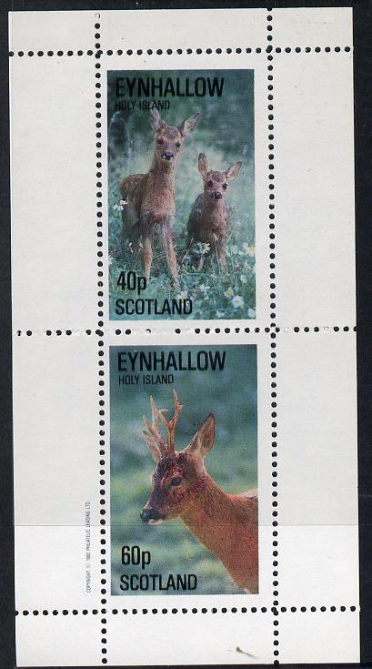 Eynhallow 1982 Deer perf  set of 2 values (40p & 60p) unmounted mint