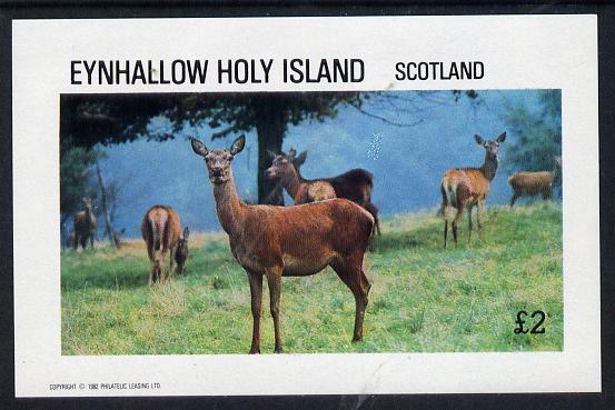 Eynhallow 1982 Deer imperf deluxe sheet (�2 value) unmounted mint