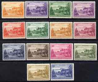 Norfolk Island 1947-59 Ball Bay set complete unmounted mint SG1-12a cat \A345