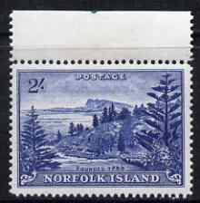 Norfolk Island 1959 Ball Bay 2s deep blue unmounted mint, SG12a