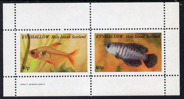 Eynhallow 1982 Tropical Fish perf  set of 2 values (40p & 60p) unmounted mint