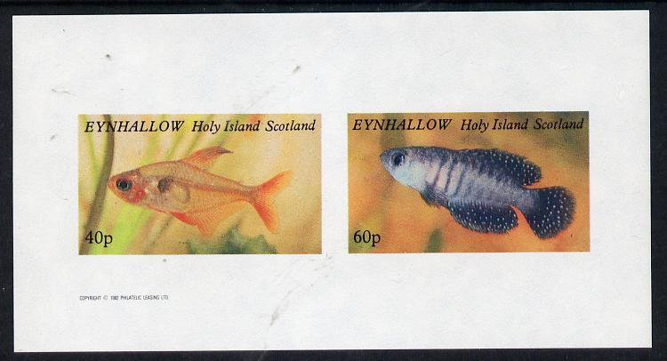 Eynhallow 1982 Tropical Fish imperf  set of 2 values (40p & 60p) unmounted mint