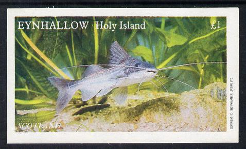 Eynhallow 1982 Tropical Fish imperf souvenir sheet (�1 value) unmounted mint
