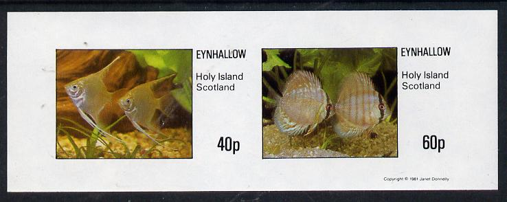 Eynhallow 1981 Tropical Fish imperf  set of 2 values (40p & 60p) unmounted mint