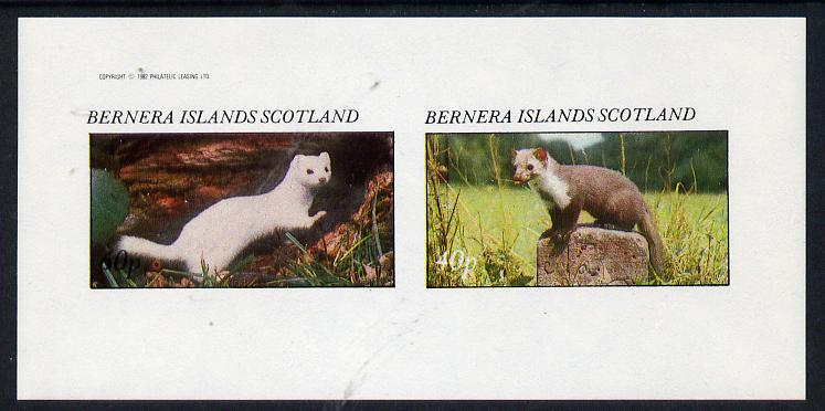 Bernera 1982 Animals imperf  set of 2 values (40p & 60p) unmounted mint