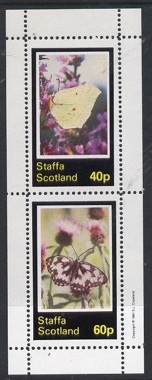 Staffa 1981 Butterflies perf  set of 2 values (40p & 60p) unmounted mint