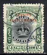 Malaya - Straits Settlements 1906-07 opt on Labuan 2c black & green cds used with good perfs for this issue, SG142a cat \A3325