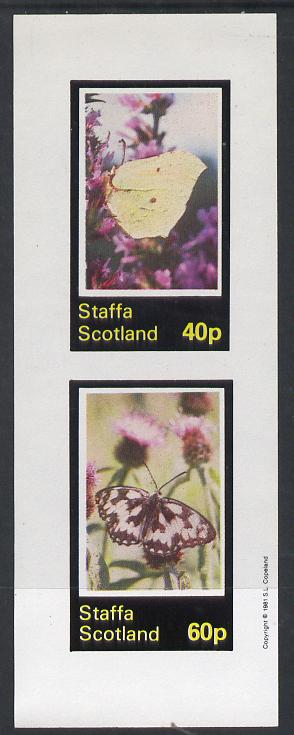 Staffa 1981 Butterflies imperf  set of 2 values (40p & 60p) unmounted mint