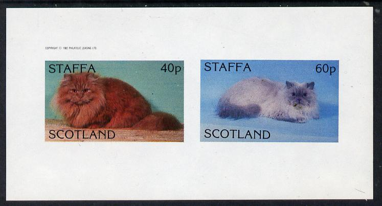 Staffa 1982 Cats imperf  set of 2 values (40p & 60p) unmounted mint