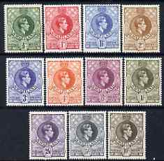 Swaziland 1938 KG6 definitive set complete 1/2d to 10s mounted mint, SG 28-38