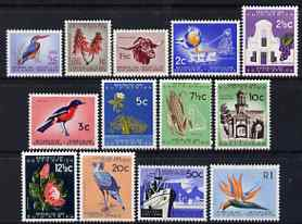 South Africa 1961 definitive set complete 1/2c to 1r unmounted mint SG 198-210 cat \A338