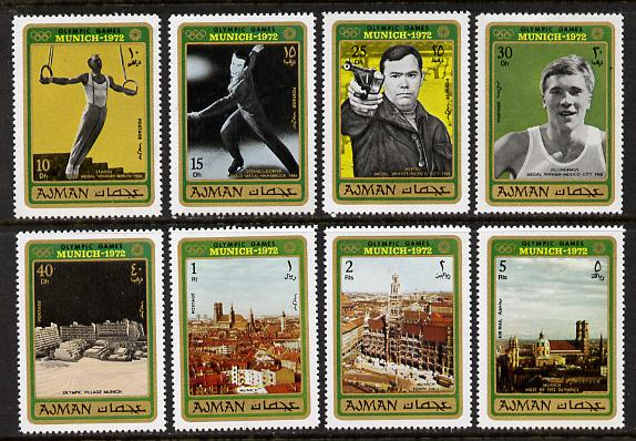 Ajman 1971 Munich Olympics perf set of 8 unmounted mint, Mi 693-700A