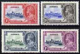 Jamaica 1935 KG5 Silver Jubilee perf set of 4 mounted mint, SG 114-7