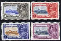 Trinidad & Tobago 1935 KG5 Silver Jubilee perf set of 4 lightly mounted mint, SG 239-42