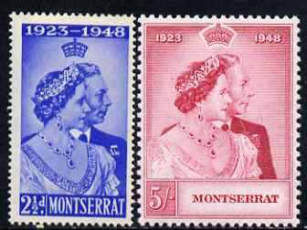 Montserrat 1949 KG6 Royal Silver Wedding perf set of 2 unmounted mint, SG 115-6