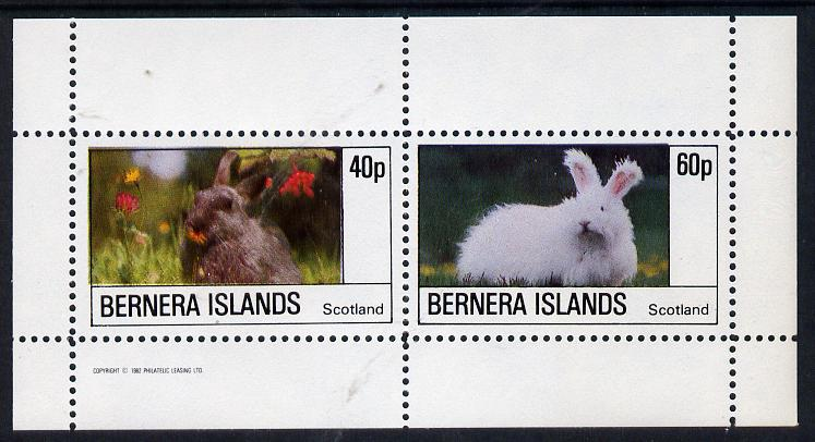 Bernera 1982 Rabbits perf  set of 2 values (40p & 60p) unmounted mint