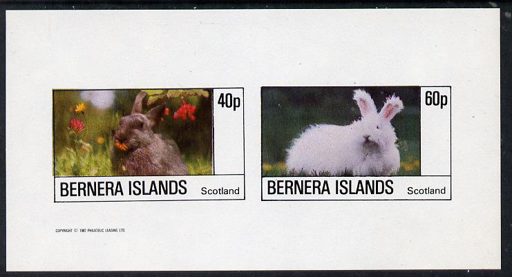Bernera 1982 Rabbits imperf  set of 2 values (40p & 60p) unmounted mint