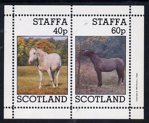 Staffa 1981 Horses #1 perf  set of 2 values unmounted mint