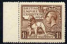 Great Britain  1924 KG5 Wembley Exhibition 1.5d brown unmounted mint, SG431