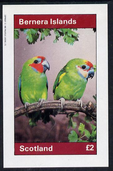Bernera 1982 Parrots imperf deluxe sheet (�2 value) unmounted mint